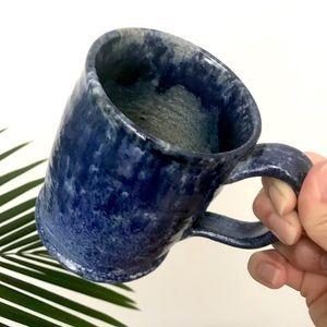 Deep Ocean Hand Thrown Coffee Mug